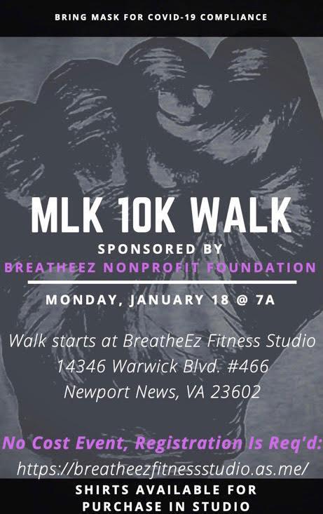 MLK 10K Walk Poster
